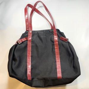 Calvin Klein Black Red Strap Travel Bag Spacious
